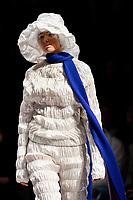 7 September 2017, Melbourne - Model parades design by RMIT student Alex Mcquire  during the Melbourne Fashion Week in Melbourne, Australia. (Photo Sydney Low / asteriskimages.com)