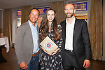 "L- R Etienne de Swardt, Marija Aslimoska & Brendan Coyle pictured at Parfumarija one year anniversary with Etat Libre D'Orange in the newly opened ""Grafton suite in ""The Westbury Hotel"" with special guest Etienne de Swardt troublemaker & perfumer and founder of Etat Libre D'Orange. Cocktails served with ingredients used in the fragrances of Etat Libre D'Orange like ginger and rose.Pic Angela Halpin"