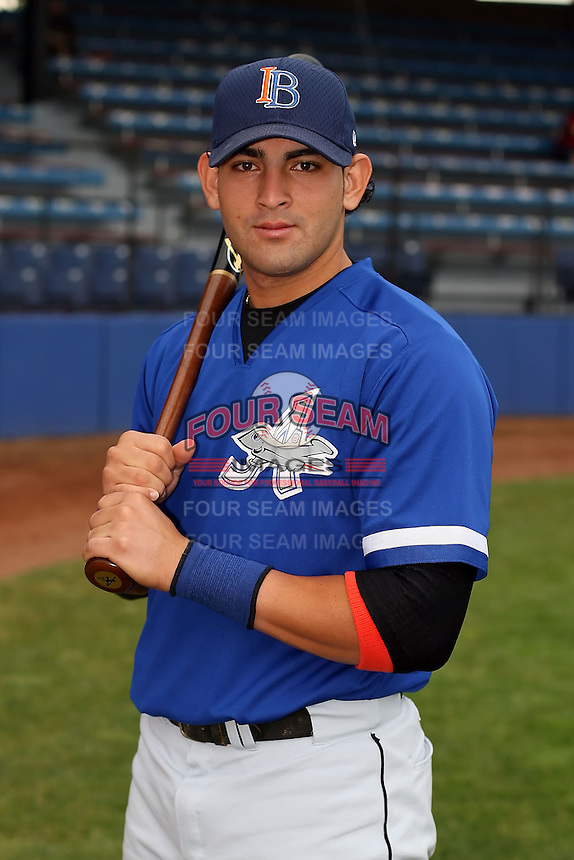 July 14th, 2007:  Franklin Gonzalez of the Aberdeen Ironbirds, Class-A Short-Season affiliate of the Baltimore Orioles, poses before a game vs the Jamestown Jammers in New York-Penn League action.  Photo by: Mike Janes/Four Seam Images