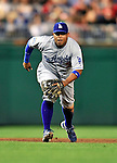 23 April 2010: Los Angeles Dodgers' infielder Ronnie Belliard in action against the Washington Nationals at Nationals Park in Washington, DC. The Nationals defeated the Dodgers 5-1 in the first game of their 3-game series. Mandatory Credit: Ed Wolfstein Photo