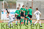 Action from the Kerry v Galway U15 soccer game in Mounthawk Park on Saturday.