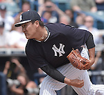 Masahiro Tanaka (Yankees),<br /> MARCH 25, 2015 - MLB :<br /> Masahiro Tanaka of the New York Yankees pitches during a spring training baseball game against the New York Mets at George M. Steinbrenner Field in Tampa, Florida, United States. (Photo by AFLO)