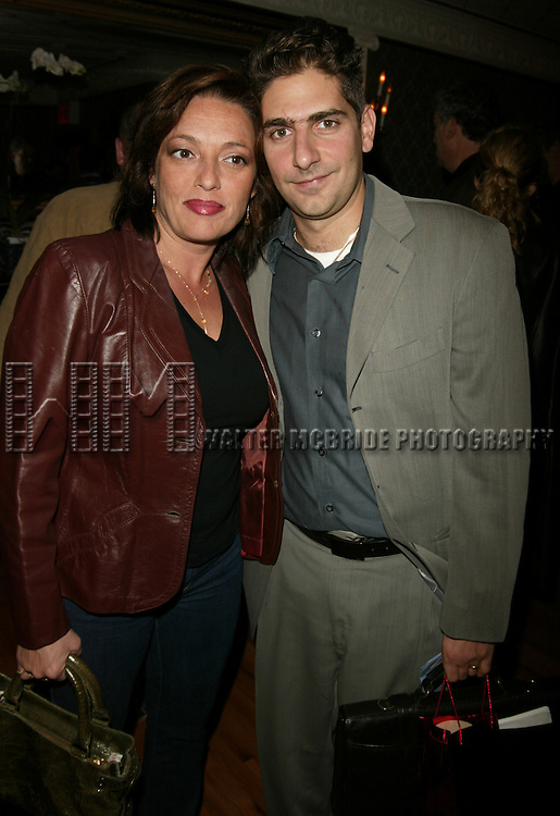Michael Imperioli and.Sharon Angela ( THE SOPRANOS ).Attending the opening night performance of PONIES at Studio Dante Theatre in New York City. The play was Written by Mike Batistick, Directed by Nick Sandow and Produced by Michael Imperioli..October 14, 2004.© Walter McBride /