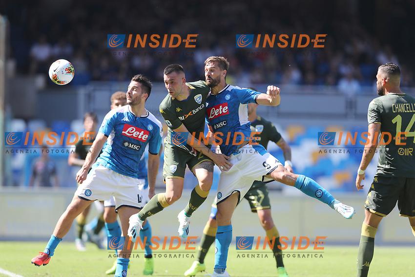 Kostantinos Manolas of Napoli scores a goal<br /> Napoli 29-9-2019 Stadio San Paolo <br /> Football Serie A 2019/2020 <br /> SSC Napoli - Brescia FC<br /> Photo Cesare Purini / Insidefoto
