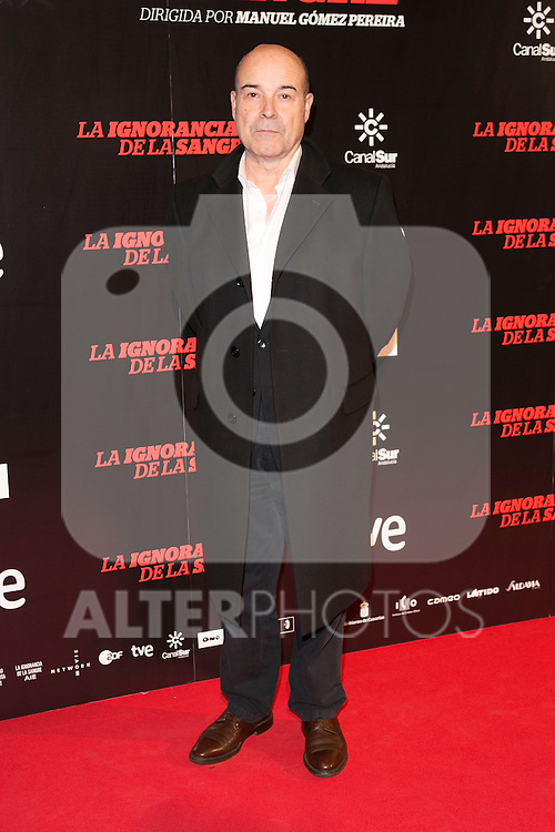 "Antonio Resines attends ""La Ignorancia de la Sangre"" Premiere at Capitol Cinema in Madrid, Spain. November 13, 2014. (ALTERPHOTOS/Carlos Dafonte)"