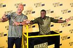"Americans actors Dwayne Johnson and Kevin Hart during the presentation of the film ""Un espia y medio"" at Hotel Villa Magna in Madrid. June 07. 2016. (ALTERPHOTOS/Borja B.Hojas)"