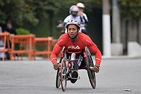 SÃO PAULO,SP, 09.04.2017 - MARATONA-SP - Cadeirantes passam pelo túnel Tribunal de Justiça, durante 23ª Maratona Internacional de São Paulo, realizada na manhã deste domingo, 09, em São Paulo(Foto: Levi Bianco/Brazil Photo Press)