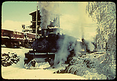 D&amp;RGW #483 and another engine at the Chama ash pit in the snow.<br /> D&amp;RGW  Chama, NM  Taken by Gildersleeve, Thomas H.