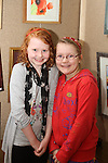 Áine Cassidy with Clíodhna McCormack at the Art Exhibition in Scoil Aonghusa..(Photo credit should read Jenny Matthews www.newsfile.ie)....This Picture has been sent you under the conditions enclosed by:.Newsfile Ltd..The Studio,.Millmount Abbey,.Drogheda,.Co Meath..Ireland..Tel: +353(0)41-9871240.Fax: +353(0)41-9871260.GSM: +353(0)86-2500958.email: pictures@newsfile.ie.www.newsfile.ie.