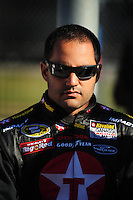 Feb 10, 2008; Daytona Beach, FL, USA; Nascar Sprint Cup Series driver Juan Pablo Montoya (42) during qualifying for the Daytona 500 at Daytona International Speedway. Mandatory Credit: Mark J. Rebilas-US PRESSWIRE
