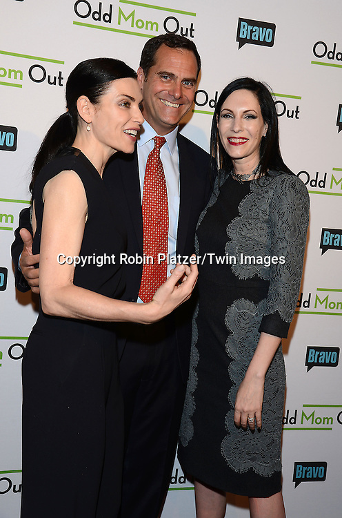 Julianna Margulies, Andy Buckley and Jill Kargmanl  attend the &quot;Odd Mom Out&quot; Screening, which is Bravo's first scripted half-hour comedy from Jill Kargman,  on June 3, 2015 at Florence Gould Hall in New York City, New York, USA.<br /> <br /> photo by Robin Platzer/Twin Images<br />  <br /> phone number 212-935-0770
