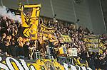Stockholm 2015-05-25 Fotboll Allsvenskan Djurg&aring;rdens IF - AIK :  <br /> AIK:s supportrar under matchen mellan Djurg&aring;rdens IF och AIK <br /> (Foto: Kenta J&ouml;nsson) Nyckelord:  Fotboll Allsvenskan Djurg&aring;rden DIF Tele2 Arena AIK Gnaget supporter fans publik supporters
