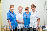 Mary O'Sullivan 'Gow' second from left put down her last day of work at St Anne's Hospital Cahersiveen on Friday after almost 50 years of service, pictured here with her sisters all whom are working in the same hospital l-r; Kathleen, Bridget & Angela.
