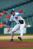 Kentucky Wildcats relief pitcher Jimmy Ramsey (38) in action against the Sam Houston State Bearkats during game four of the 2018 Shriners Hospitals for Children College Classic at Minute Maid Park on March 3, 2018 in Houston, Texas. The Wildcats defeated the Bearkats 7-2.  (Brian Westerholt/Four Seam Images)