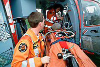 Helicopter emergency paramedics and doctors
