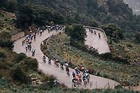 peloton descending a tricky/slippery Coll de Soller<br /> <br /> Trofeo Lloseta - Andratx: 140km<br /> 27th Challenge Ciclista Mallorca