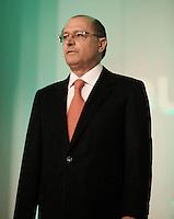 SAO PAULO, SP, 16 JANEIRO DE 2012 - COUROMODAS - O governador de Sao Paulo Geraldo Alckmin durante abertura da Feira Couromodas, no pavilhao de Exposicao do Anhembi zona norte da cidade, nesta manha de segunda-feira (16). FOTO: RICARDO LOU - NEWS FREE.