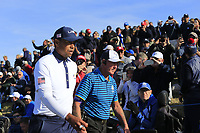 Tiger Woods (Team USA) walks to the 12th tee during Saturday's Foursomes Matches at the 2018 Ryder Cup 2018, Le Golf National, Ile-de-France, France. 29/09/2018.<br /> Picture Eoin Clarke / Golffile.ie<br /> <br /> All photo usage must carry mandatory copyright credit (&copy; Golffile | Eoin Clarke)