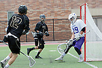 Orange, CA 05/16/15 - Brandon Suchand (Grand Canyon #29), Matt Milne (Colorado #12) and Jackson Marlow (Colorado #3) in action during the 2015 MCLA Division I Championship game between Colorado and Grand Canyon, at Chapman University in Orange, California.