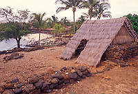 Site of restored 14th century fishing village at Lapakahi state historical park