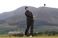 Linda Lundqvist (SWE) on the 2nd tee during Round 2 of the Women's Amateur Championship at Royal County Down Golf Club in Newcastle Co. Down on Wednesday 12th June 2019.<br /> Picture:  Thos Caffrey / www.golffile.ie