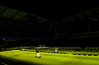 Harrison, NJ - Tuesday April 10, 2018: Grow lights after leg two of a  CONCACAF Champions League semi-final match between the New York Red Bulls and C. D. Guadalajara at Red Bull Arena. C. D. Guadalajara defeated the New York Red Bulls 0-0 (1-0 on aggregate).