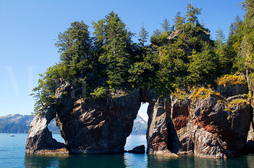 Three Hole Point at Three Hole Bay, Aialik Bay, Kenai Fjords National Park, Alaska.