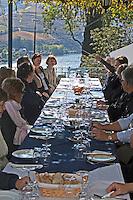 restaurant terrace quinta de la rosa douro portugal