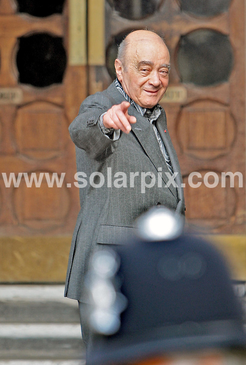 **ALL ROUND PICTURES FROM SOLARPIX.COM**.**NO UK NEWSPAPER PUBLICATION **UK MAGAZINE & SUPPLEMENT PUBLICATION ONLY** AND NO PUBLICATION IN FRANCE, SCANDINAVIA, AUSTRALIA AND GERMANY** .Mohammed Al Fayed pictured arriving at the High Court in London this morning for the inquest into the deaths of Princess Diana and Dodi Fayed. 3rd April 2008..JOB REF: 6065 SFE       DATE: 03_04_2008.**MUST CREDIT SOLARPIX.COM OR DOUBLE FEE WILL BE CHARGED* *UNDER NO CIRCUMSTANCES IS THIS IMAGE TO BE REPRODUCED FOR ANY ONLINE EDITION WITHOUT PRIOR PERMISSION*