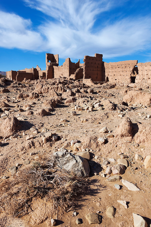 Village (ksar) in the Draa Valley, Morocco.