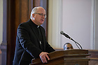 Jan. 21, 2013; Rev. William Lies, C.S.C., vice president for Mission Engagement and Church Affairs, speaks during the prayer service to honor the legacy of Dr. Martin Luther King, Jr. in the Main Building rotunda. Photo by Barbara Johnston/University of Notre Dame