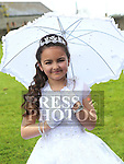 Kirsty Kells Who received first holy communion in St Cianan's church Duleek.<br /> <br /> Photo-Jenny Matthews