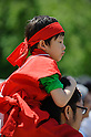 MAY 5, 2016 - A child wears a ninja outfit while watching a performance at Nagoya Caste in Nagoya, Aichi Prefecture, Japan. (Photo by Ben Weller/AFLO) (JAPAN) [UHU]