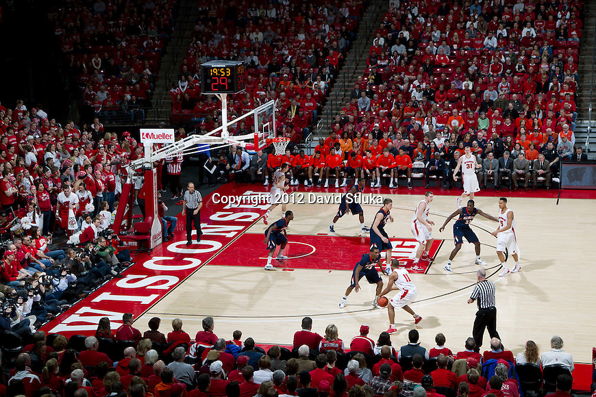A general view of the Kohl Center during the Wisconsin Badgers Big Ten Conference NCAA college basketball game against the Illinois Fighting Illini on Sunday, March 4, 2012 in Madison, Wisconsin. The Badgers won 70-56. (Photo by David Stluka)