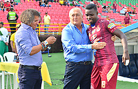 IBAGUE - COLOMBIA, 17-02-2019: Alberto Gamero técnico del Tolima, Eduardo Lara técnico de Envigado y Marco Perez del Tolima previo al partido por la fecha 5 de la Liga Águila I 2019 entre Deportes Tolma y Envigado FC jugado en el estadio Manuel Murillo Toro de Ibagué. / Alberto Gamero coach of Tolima, Eduardo Lara coach of Envigado and Marco Perez of Tolima match against Envigado FC prior the match for the date 5 of the Aguila League I 2019 between Deportes Tolma and Envigado FC played at Manuel Murillo Toro stadium in Ibague city. Photo: VizzorImage / Juan Carlos Escobar / Cont