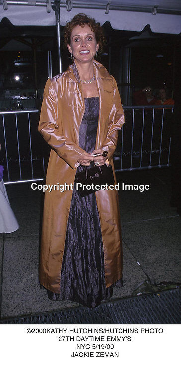 ©KATHY HUTCHINS/HUTCHINS PHOTO.27TH DAYTIME EMMYS.NYC 5/1/00.JACKIE ZEMAN