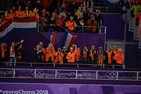 OLYMPIC GAMES: PYEONGCHANG: 10-02-2018, Gangneung Oval, Long Track, 3000m Ladies, Dutch fans, ©photo Martin de Jong