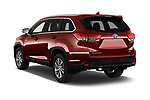 Car pictures of rear three quarter view of 2019 Toyota Highlander XLE 5 Door SUV Angular Rear