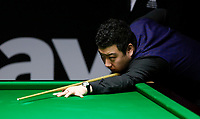 26th November 2019; York, England;  Li Hang of China competes during the UK Snooker Championship 2019 first round match with Jamie Clarke of Wales in York on Nov. 26, 2019.