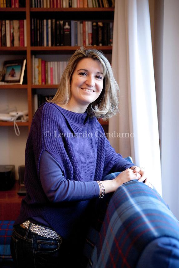 Anna Premoli,nata nel 1980 in Croazia, nel 1987 si è trasferita a Milano, dove si è laureata in Economia dei mercati finanziari, presso la Bocconi. Milano, 23 febbraio 2013. © Leonardo Cendamo