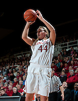 STANFORD, CA - February 24, 2011: Joslyn Tinkle of the Stanford Cardinal women's basketball team during the Stanford vs Oregon State game at Maples Pavilion.