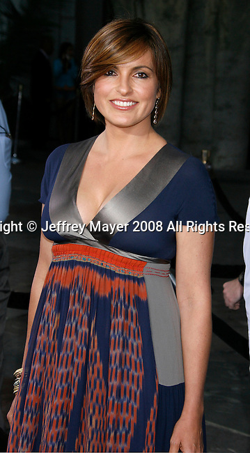 """Actress Mariska Hargitay arrives at the Los Angeles Premiere of """"The Love Guru"""" on June 11, 2008 at Grauman's Chinese Theatre in Hollywood, California."""