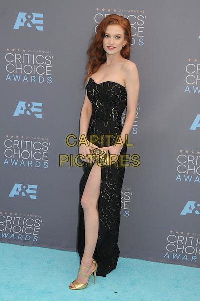 17 January 2016 - Santa Monica, California - Sarah Hay. 21st Annual Critics' Choice Awards - Arrivals held at Barker Hangar. <br /> CAP/ADM/BP<br /> &copy;BP/ADM/Capital Pictures