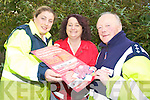 HELP BREAK RECORD: Help the Irish Red Cross make history as they try and hold the biggest table quiz in Ireland. From l-r were: Lynda Harris, Geraldine Sheehy and Charlie Harnett.