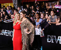 "WESTWOOD, LOS ANGELES, CA, USA - MARCH 18: Kate Winslet, Shailene Woodley at the World Premiere Of Summit Entertainment's ""Divergent"" held at the Regency Bruin Theatre on March 18, 2014 in Westwood, Los Angeles, California, United States. (Photo by Xavier Collin/Celebrity Monitor)"
