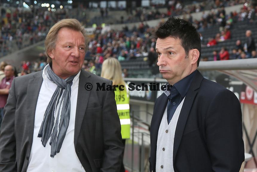 Praesident Harald Strutz und Manager Christian Heidel (Mainz)  - Eintracht Frankfurt vs. 1. FSV Mainz 05