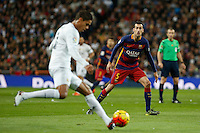 Barcelona´s Sergio Busquets during 2015-16 La Liga match between Real Madrid and Barcelona at Santiago Bernabeu stadium in Madrid, Spain. November 21, 2015. (ALTERPHOTOS/Victor Blanco) /NortePhoto