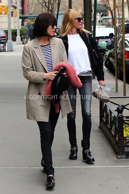 WWW.ACEPIXS.COM<br /> <br /> April 17 2015, New York City<br /> <br /> Actresses Dakota Johnson and her mother Melanie Griffith leave an East Village apartment on April 17 2015 in New York City<br /> <br /> By Line: Philip Vaughan/ACE Pictures<br /> <br /> ACE Pictures, Inc.<br /> tel: 646 769 0430<br /> Email: info@acepixs.com<br /> www.acepixs.com