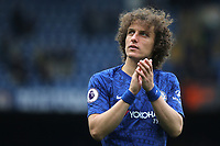 David Luiz of Chelsea applauds the home fans as he walks around the pitch after the game during Chelsea vs Watford, Premier League Football at Stamford Bridge on 5th May 2019