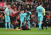 Newcastle United's Mohamed Diame checks up on the injured Newcastle United's Florian Lejeune <br /> <br /> Photographer David Horton/CameraSport<br /> <br /> The Premier League - Bournemouth v Newcastle United - Saturday 16th March 2019 - Vitality Stadium - Bournemouth<br /> <br /> World Copyright © 2019 CameraSport. All rights reserved. 43 Linden Ave. Countesthorpe. Leicester. England. LE8 5PG - Tel: +44 (0) 116 277 4147 - admin@camerasport.com - www.camerasport.com